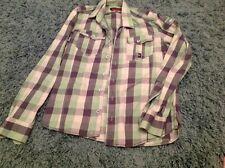 duck and cover mens check shirt medium