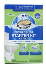 NEW Scrubbing Bubbles Fresh Brush Starter Kit and Caddy 4 in 1 Cleaning Power