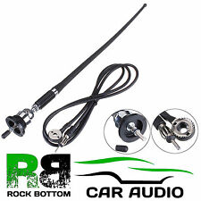 VOLKSWAGEN VW AM/FM Rubber Mast Roof/Wing Mount Car Radio Aerial Antenna CHROME