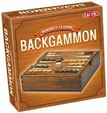 Tactic jeux de Voyage en bois Backgammon