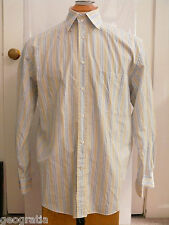 Canali Mens Multicolor Pinstripe Long Sleeve Dress Shirt Size 41 / 16 Italy