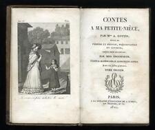 1821 Contes A Ma Petite-Nièce Par Mme. A. Gottis, Maria Edgeworth French