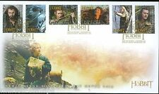 NEW ZEALAND  HOBBIT  2013 THE DESOLTAION OF SMAUG SET 6 SELF ADHESIVE STAMPS FDC