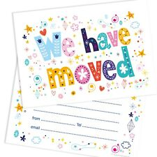 Change of Address House Move Cards - Funky Text - A6 Postcard Size (Pack 10)