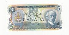 **1979**Canada $5 Note, Crow/Bouey BC-53b, Ser# 30575687162