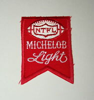 Vintage Michelob Light Brewing Beer Flag Football NTFL Cloth Patch 1970s NOS New