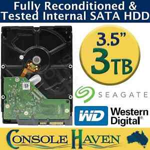 "Refurbished 3TB SATA 3.5"" Internal Hard Disk Drive HDD - Wiped & Fully Tested"
