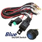 40A 12V LED Light Bar Wiring Harness Relay Blue Switch FIT Jeep Off Road ATV US