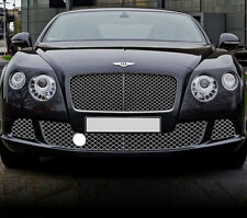 Chrome Bumper Mesh Grille Pair For Bentley Continental GT GTC 12-18