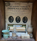 Antique pharmacy medicine old vintage  bottles apothecary