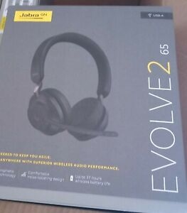 New Jabra Evolve2 65 Stereo Wireless Headset (UC, USB-A) - Black