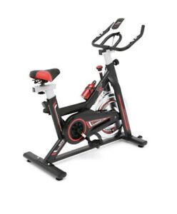 Speedy Sports 8kg Flywheel With Pulse Exercise Bike Grey, Black And Red