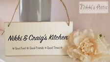 Personalised Plaque Kitchen , Family Name, Sign, Gift, Homeware, Handmade,