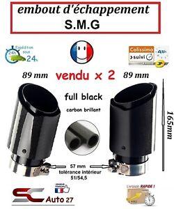 Embout d'échappement universel S.M.G entrée 57/89 mm sortie vendu x2 côte ext