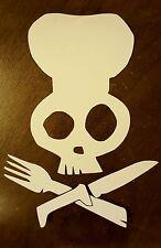 Custom Vinyl Decal Chef Skull Crossbones Sticker Heat Transfer Personalized