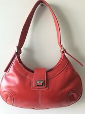 SUZIE SMITH real leather ladies small red underarm shoulderbag