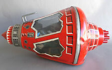 VINTAGE HS HORIKAWA MADE IN JAPAN TIN LITHO SPACE MERCURY CAPSULE FRICTION TOY