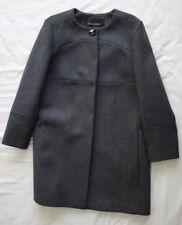 Tara Jarmon Femmes Mesdames Gris laine manteau taille 44 16 bon état utilisé