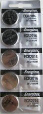 Lot of 5 PC ENERGIZER CR2016 WATCH BATTERIES 3V LITHIUM CR 2016 Coin ECR2016
