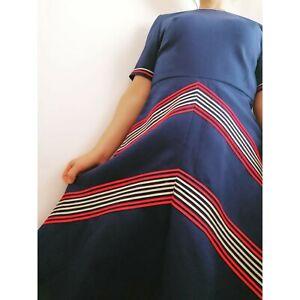 1960s Mod Chevron True Vintage Dress 6