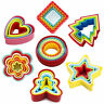 5pcs/set Cookie Biscuit Sandwich Cake Cutters Colorful Heart Star Shape Hot Sale