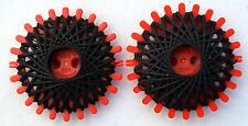 TORNADO de estrella con hilo de poliéster resistente 2 x 20m negro