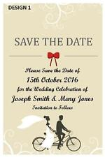 SAVE THE DATE WEDDING CARDS PARTY PERSONALISED + FREE MAGNETS