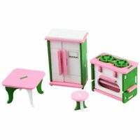 5X(Baby Wooden Dollhouse Furniture Dolls House Miniature Child Play Toys Gi