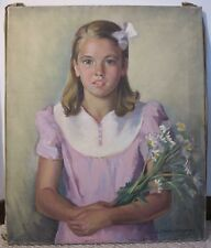 Frank Stanley Herring girl portrait painting Milledgeville Georgia GA artist