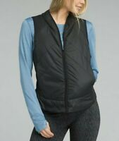 prAna Women's Black Polar Breeze Vest Full Zip Pockets Matte Size Medium New NWT