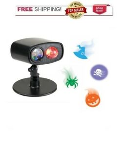 Halloween Holiday Brilliant Spectacular LED Projector with 4 Spooky Icons