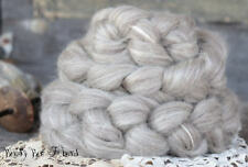 BFL - TUSSAH SILK Wool Roving Natural Oatmeal Combed Top for Spinning Felting