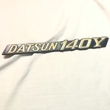 Datsun 140Y Boot / Tailgate badge  Used Conditon Intact Rare!