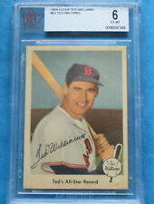 1959 Fleer Ted Williams #63 Ted's All Star Record Red Sox PSA EX-MT BVG 6