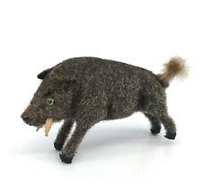 Max Carl Wagner Kunstlerschutz Wild Boar 50s Flocked Wool Monkey Label 1.5in Vtg