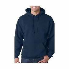 Hooded Plain Black Sweatshirt Top Men Women Pullover Hoodie Fleece Cotton Blank