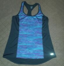 Womens Champion Duo Dry Multi Color Stripe Racer Back Yoga Tank Top ~ Size Large