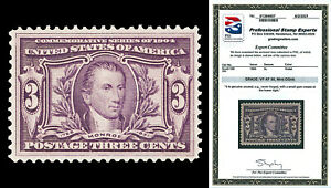 Scott 325 1904 3c Louisiana Purchase Issue Mint Graded VF-XF 85 NH with PSE CERT