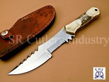 BEAUTIFUL CUSTOM HAND MADE STAINLESS STEEL HUNTING KNIFE HANDLE STAG HORN