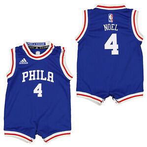 Adidas NBA Infants Philadelphia 76ers Nerlens Noel #4 Replica Road Creeper