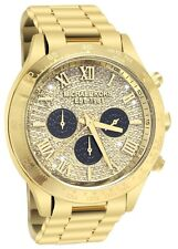 Michael Kors Women's Layton Crystal Glitz Dial Yellow Gold tone Bracelet MK5830