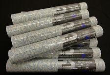 05487-30-) 10 Rollen moderne Papiertapeten mit Design blau und weiß