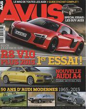 AVUS 33 AUDI A6 ALLROAD V6 3.0 biTDI Q5 3.0 TFSI TT ROADSTER MK3 R8 V10 PLUS Q7