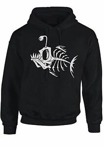 Skeleton fish hoodie skull unusal kids & Adult hooded top