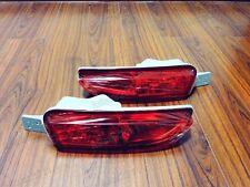 1Pair Red Lens Rear Bumper Fog Lights Lamps For Honda CRV 2012-2014