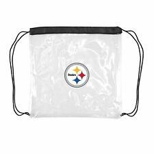 Pittsburgh Steelers Football Logo NFL Stadium Approved Clear Cinch String Bag