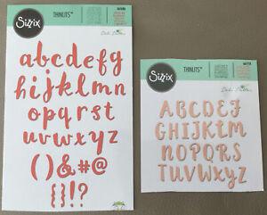 Sizzix - Upper & Lower Case Alphabet DIes