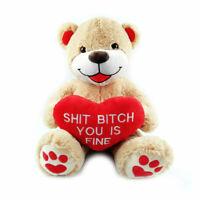 Teddybär mit Herz, Riesen Teddy Kuscheltier Freundin, XXL Bär, Liebesbotschaft