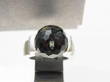 Schöner massiver Joop Ring 925 Sterlingsilb. fein geschliffener schwarzer Stein