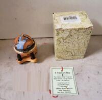 Miniature World Globe Hinged Trinket Treasure Box Keepsakes Love Notes Jewelry